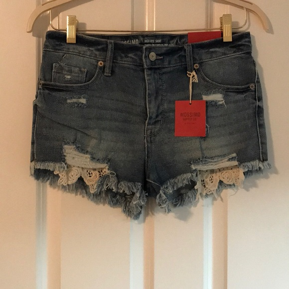 Mossimo Supply Co. Pants - Mossimo Hi-Rise Ripped Jean Shorts